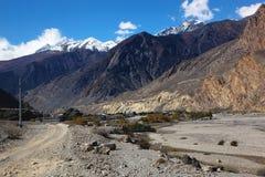 jomsom尼泊尔 库存照片
