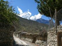 Jomson, view to Nilgiri, Nepal Royalty Free Stock Photos