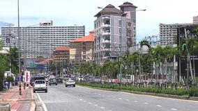 Jomtien 2nd Road Pattaya. View Talay 1. Thailand Stock Images