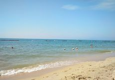 Jomtien strand Royaltyfri Fotografi