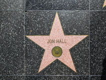 Jon Hall's star on Hollywood Walk Stock Photo