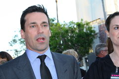 Jon Hamm. Jon is at the premiere of the movie Bridesmaids royalty free stock photography
