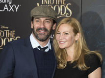 Jon Hamm et Jennifer Westfeldt Photos stock