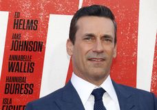 Jon Hamm. At the Los Angeles premiere of `Tag` held at the Regency Village Theatre in Westwood, USA on June 7, 2018 stock image