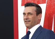 Jon Hamm. At the Los Angeles premiere of `Tag` held at the Regency Village Theatre in Westwood, USA on June 7, 2018 stock images