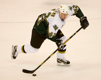 Jon Klemm Controls The Puck Stock Photography