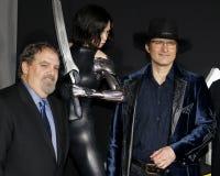 Jon Landau en Robert Rodriguez stock foto's