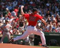 Jon Lester, les Red Sox de Boston Images libres de droits