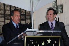 Jon Lovitz, Steve Guttenberg. Jon Lovitz and Steve Guttenberg  at Steve Guttenberg's Star on the Hollywood Walk of Fame Ceremony, Hollywood, CA 12-12-11 Royalty Free Stock Photography