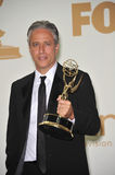 Jon Stewart. In the press room at the 2011 Primetime Emmy Awards at the Nokia Theatre L.A. Live in downtown Los Angeles. September 18, 2011 Los Angeles, CA stock photo