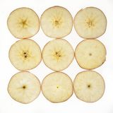 Jonagold apple malus domestica slices. Jonagold apple cut in slices Stock Photography