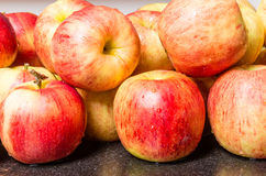 Jonagold apples on counter ready to use Royalty Free Stock Photo