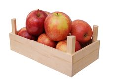 Jonagold apples in crate Royalty Free Stock Photo