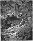 Jonah και η φάλαινα απεικόνιση αποθεμάτων