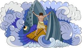 Jonah e peixes Fotos de Stock