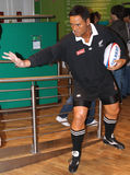 Jonah Lomu at Madame Tussaud's Stock Image