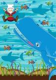 jonah wieloryb ilustracja wektor