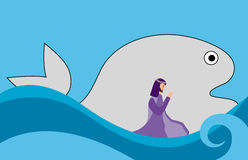 Jonah y pescados Imagen de archivo