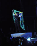 Jonas Brothers in Brazil. Joe Jonas , from the Jonas Brothers group, performing in Sao Paulo, Brazil Stock Photos