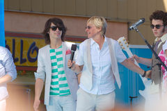Jonas brothers Ellen Zdjęcia Royalty Free