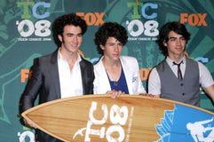 Jonas Brothers,Jona,The Jonas Brothers. The Jonas Brothers  in the press room at the 2008 Teen Choice Awards. Gibson Amphitheater, Universal City, CA. 08-03-08 Stock Photo