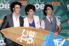 Jonas Brothers. The Jonas Brothers  in the press room at the 2008 Teen Choice Awards. Gibson Amphitheater, Universal City, CA. 08-03-08 Royalty Free Stock Images