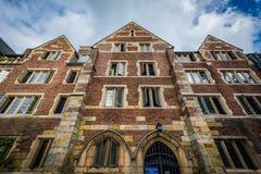 Jonathan Edwards College Building, em Yale University, no Ne Fotos de Stock