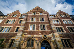 Jonathan Edwards College Building, in Yale University, in Ne Stock Foto's