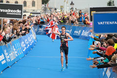 Jonathan et Alistair Brownlee - finition Photographie stock
