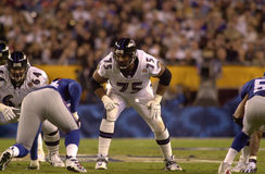 Jonathan Ogden, Super Bowl XXXV. Baltimore Ravens OL Jonathan Ogden, #75 Royalty Free Stock Photo