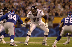 Jonathan Ogden, Super Bowl XXXV. Offensive lineman Jonathan Ogden of the Baltimore Ravens in action during Super Bowl XXXV. (Image taken from color slide Royalty Free Stock Images