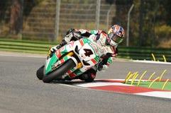 Jonathan Rea GBR Honda CBR1000RR Castrol Honda en la acción durante la práctica del Superbike en Imola Circuit Fotografía de archivo libre de regalías