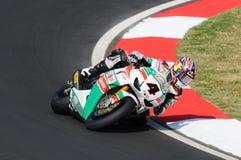 Jonathan Rea GBR Honda CBR1000RR Castrol Honda en la acción durante la práctica del Superbike en Imola Circuit Fotos de archivo libres de regalías