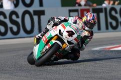 Jonathan Rea GBR Honda CBR1000RR Castrol Honda en la acción durante la práctica del Superbike en Imola Circuit Imagen de archivo