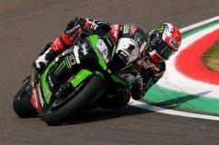 Jonathan Rea - GBR Kawasaki ZX-10R Kawasaki Racing Team. Imola 2016 Stock Image