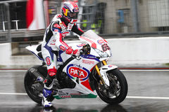 Jonathan Rea #65 on Honda CBR1000RR with Pata Honda World Superbike Team Superbike WSBK Royalty Free Stock Images