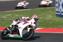 Jonathan Rea - Honda CBR1000RR - Honda-Welt Super Lizenzfreie Stockfotos