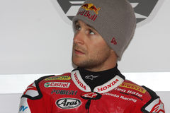 Jonathan Rea - Honda CBR1000RR - Honda World Super. Jonathan Rea rider Honda CBR1000RR with Honda World Superbike Team in the world Superbike Championship SBK Royalty Free Stock Image