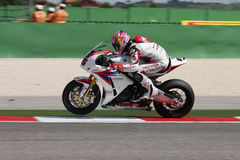 Jonathan Rea - Honda CBR1000RR - Honda World Super Royalty Free Stock Photos