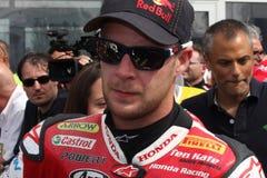 Jonathan Rea - Honda CBR1000RR - mundo de Honda super Imagens de Stock