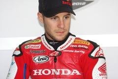 Jonathan Rea - Honda CBR1000RR - Super de Wereld van Honda Royalty-vrije Stock Afbeeldingen