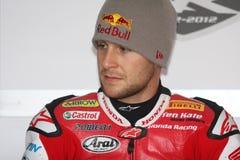 Jonathan Rea - Honda CBR1000RR - Super de Wereld van Honda Stock Foto's