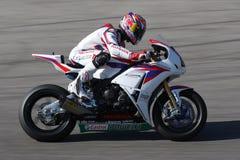 Jonathan Rea - Honda CBR1000RR - Super de Wereld van Honda Stock Afbeeldingen