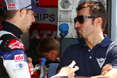 Jonathan Rea #65 and Max Biaggi stock photography