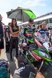 Jonathan Rea-Pilot von Superbikes SBK stockfotografie
