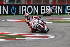 Jonathan Rea #65 su Honda CBR1000RR con il Superbike WSBK di Pata Honda World Superbike Team Immagini Stock Libere da Diritti