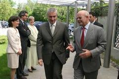 Jonathan Scheele and Calin Popescu Tariceanu Stock Images