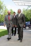Jonathan Scheele and Calin Popescu Tariceanu Royalty Free Stock Image