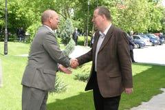 Jonathan Scheele en Bogdan Chirieac Stock Fotografie