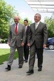 Jonathan Scheele und Calin Popescu Tariceanu Stockfotos